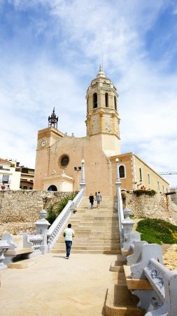sant: Church of Sant Bartomeu and Santa Tecla, Sitges, Barcelona