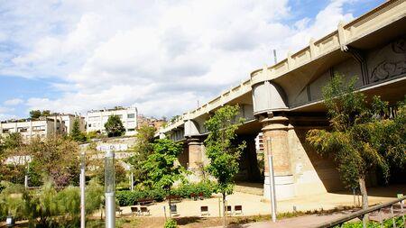 viaducts: Bridge of Vallcarca in Barcelona