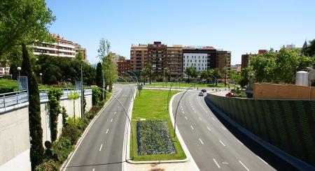 Panoramic of Ronda Guinard� in Barcelona photo