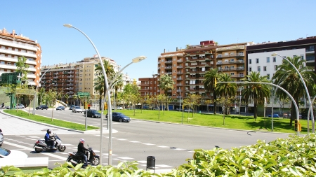Panoramic of the neighborhood of the Guinard�, Barcelona photo
