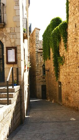 passages: Alley of the ancient and historical city of Girona, Spain