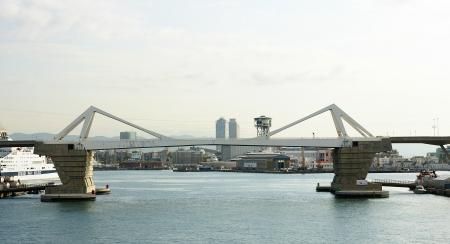drawbridge: Drawbridge in the port of Barcelona