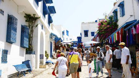 tunisia: Sidi Bou Said s street , Tunis