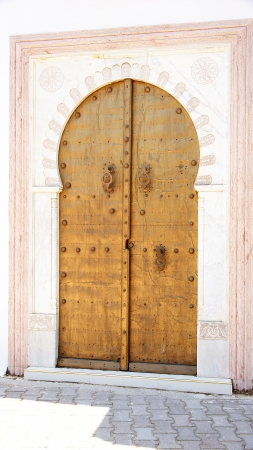 ccedil: Door Golden in a house in Sidi Bou Said, Tunisia