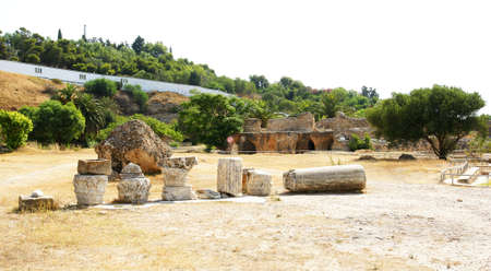 Panoramic of the Termas de Antonino in T�nez photo