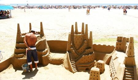 sandcastles: sandcastles in Cambrils, Tarragona