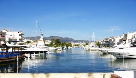 costa brava: Empuriabrava canaux s, Costa Brava, G�rone, Espagne