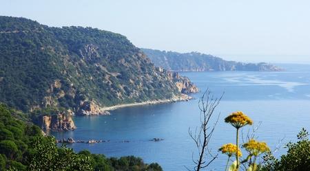costa brava: Panoramique sur la Costa Brava, G�rone, Espagne Banque d'images
