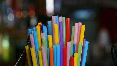 Straws of colors Stock Photo - 16300015