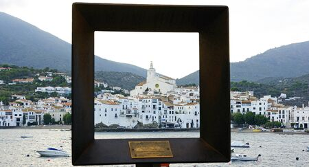 eacute: Framed Cadaqu&amp,amp,eacute,s, Girona, Costa Brava, Catalonia, Spain