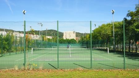 Fields of tennis in the Vall de Hebr�n in Barcelona