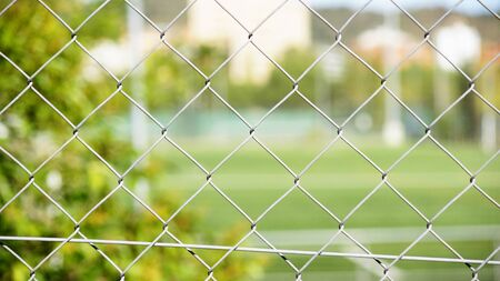 enclosures: Wire fence of an enclosure for funds and textures Stock Photo