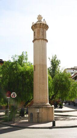 wody wieży: Ancient the water tower in Barcelona Zdjęcie Seryjne