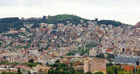Panoramic of a neighborhood of Barcelona Stock Photo - 16299965
