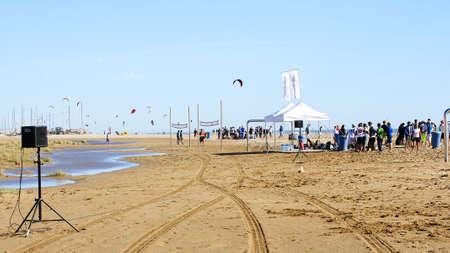 kitesurf: Championship of kitesurf 2012 in Castelldefels s beach, Barcelona