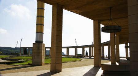 olympic ring: Gardens of Montju�c s Olympian Ring, Barcelona