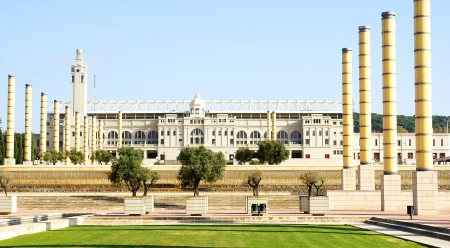 Panoramic of the gardens of Montju�c s Olympian Ring, Barcelona Stock Photo - 16559068