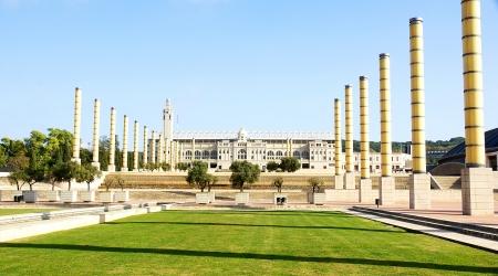 Panoramic of the gardens of Montju?s Olympian Ring, Barcelona Stock Photo - 16558283
