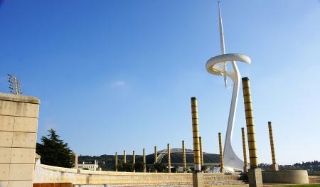 Panoramic of the gardens of Montju?s Olympian Ring, Barcelona Stock Photo - 16558279