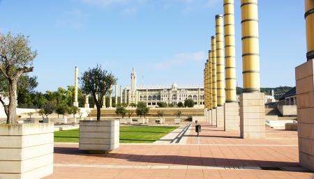 Panoramic of the gardens of Montju?s Olympian Ring, Barcelona Stock Photo - 16558275