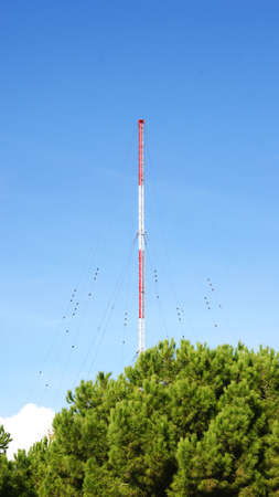 issuer: Antenna in the summit of the Tibidabo in Barcelona Stock Photo