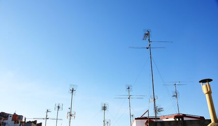 Antennas in the roofs photo