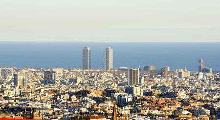 Panoramic of Barcelona Stock Photo - 17003194