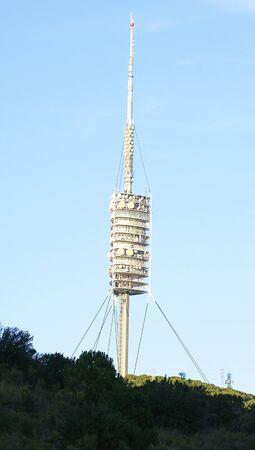 tibidabo: Great antenna in the summit of the Tibidabo, Barcelona