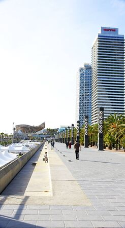 stroll: Stroll in the Port Olimpic of Barcelona Editorial
