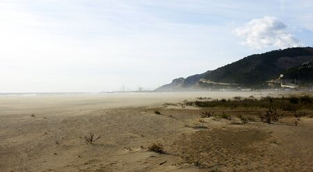 climatology: Wind in Castelldefels s beach, Barcelona