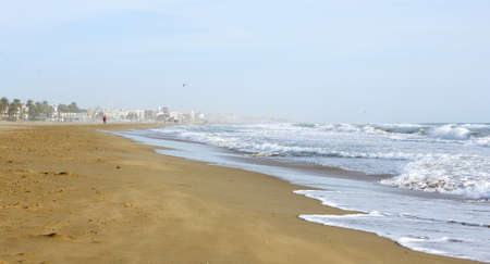 climatology: Waves in Castelldefes s beach, Barcelona