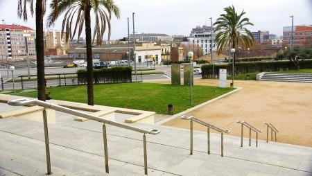 Steps and gardens of the Teatre Nacional de Catalunya, Barcelona