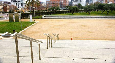 Teatre Nacional s stairs of Catalonia, Barcelona Stock Photo - 17146975