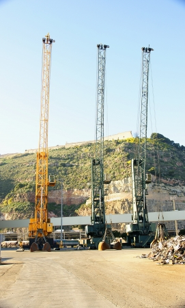 Cranes at a dock in the port of Barcelona Stock Photo - 17298077