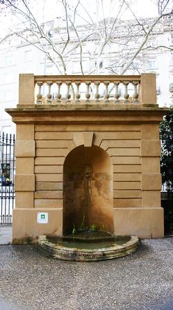 Source in the gardens of The Tamarita in Barcelona Stock Photo - 17766951