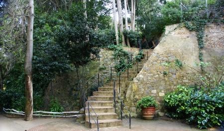Gardens of The Tamarita in Barcelona Stock Photo - 17766958