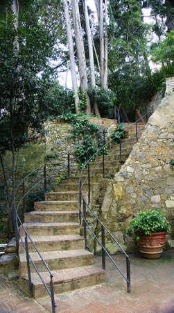 Gardens of The Tamarita in Barcelona Stock Photo - 17766961