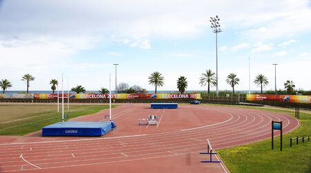foci: Track of athletics in the beach of the Mar Bella of Barcelona Editorial