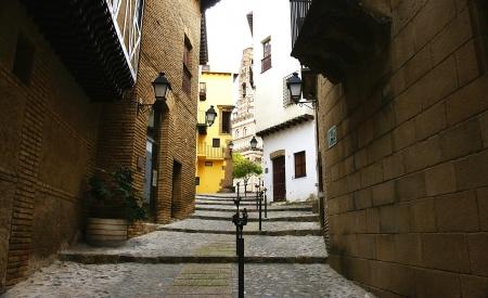 grates: Panoramic of the Pueblo Español in Barcelona