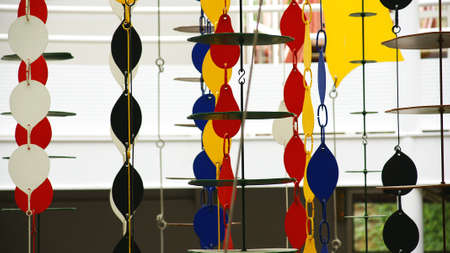 Mobiles of colors hanging of a ceiling in the Pueblo Espa�ol, Barcelona Stock Photo - 19808598