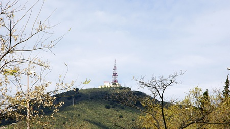 issuer: Antenna on top of a mountain