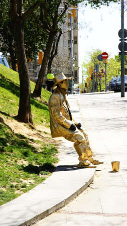 characterization: Living Statues in the city Editorial