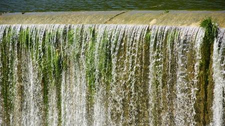 Spillway Foix reservoir in Castellet i la Gornal Фото со стока