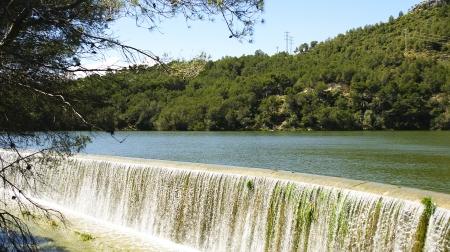 Spillway Foix reservoir in Castellet i la Gornal, Barcelona