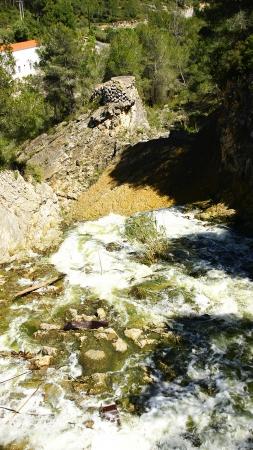 flow excess water spillway Foix reservoir, Castellet i la Gornal, Barcelona