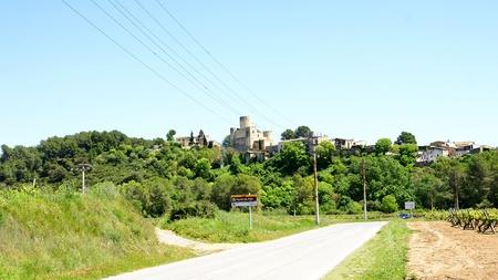 average age: Road Castellet i la Gornal with castle in background, Barcelona