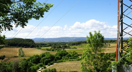 cropland: Overview of cropland the Penedes, Barcelona Stock Photo