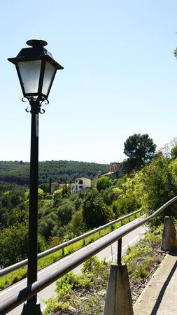 bluff: Access road to the castle of Castellet i la Gornal, Barcelona