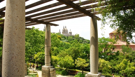 Gardens of The Grec of Barcelona