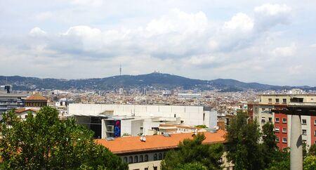 Panoramic of Barcelona photo